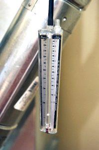 HVAC system draft gauge